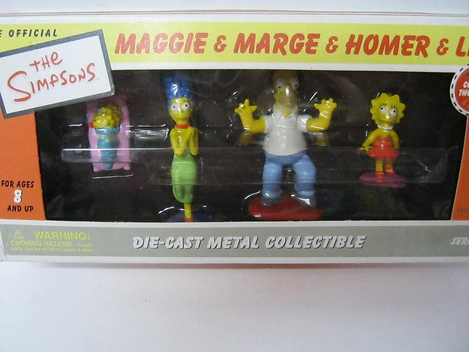 Amazon Com The Simpsons Die Cast Metal Collectible Playset Maggie Marge Homer Lisa Toys Games The show centers on a tween fly named maggie pesky, who lives in the town of stickyfeet and dreams of becoming a rock star. the simpsons die cast metal collectible