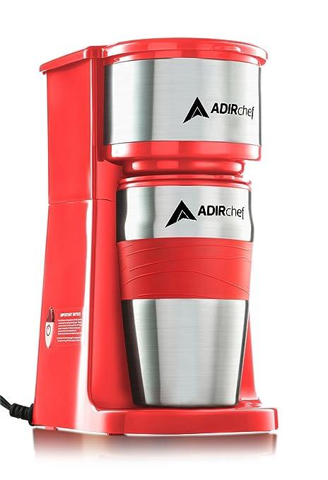 Amazoncom Adirchef Grab N Go Personal Coffee Maker With 15 Oz