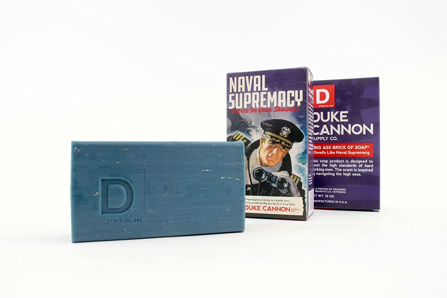 Duke Cannon Limited Edition WWII Era Big Brick of Soap for Men, 10oz – Naval Supremacy 3 Pack