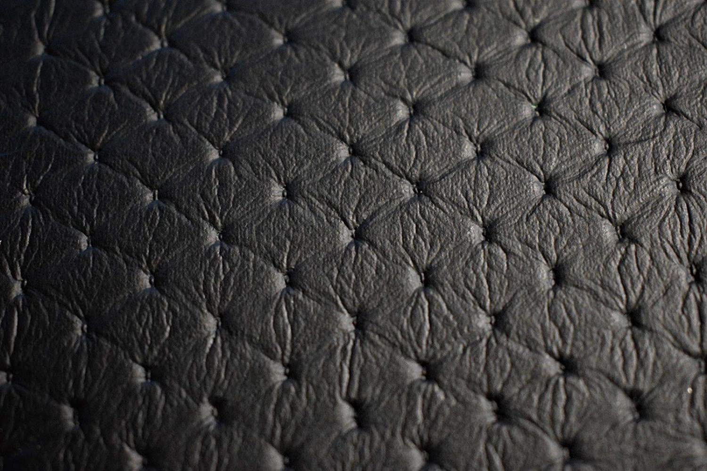 Amazon Com Black Embossed Diamond Stitch Faux Leather Fabric Vinyl