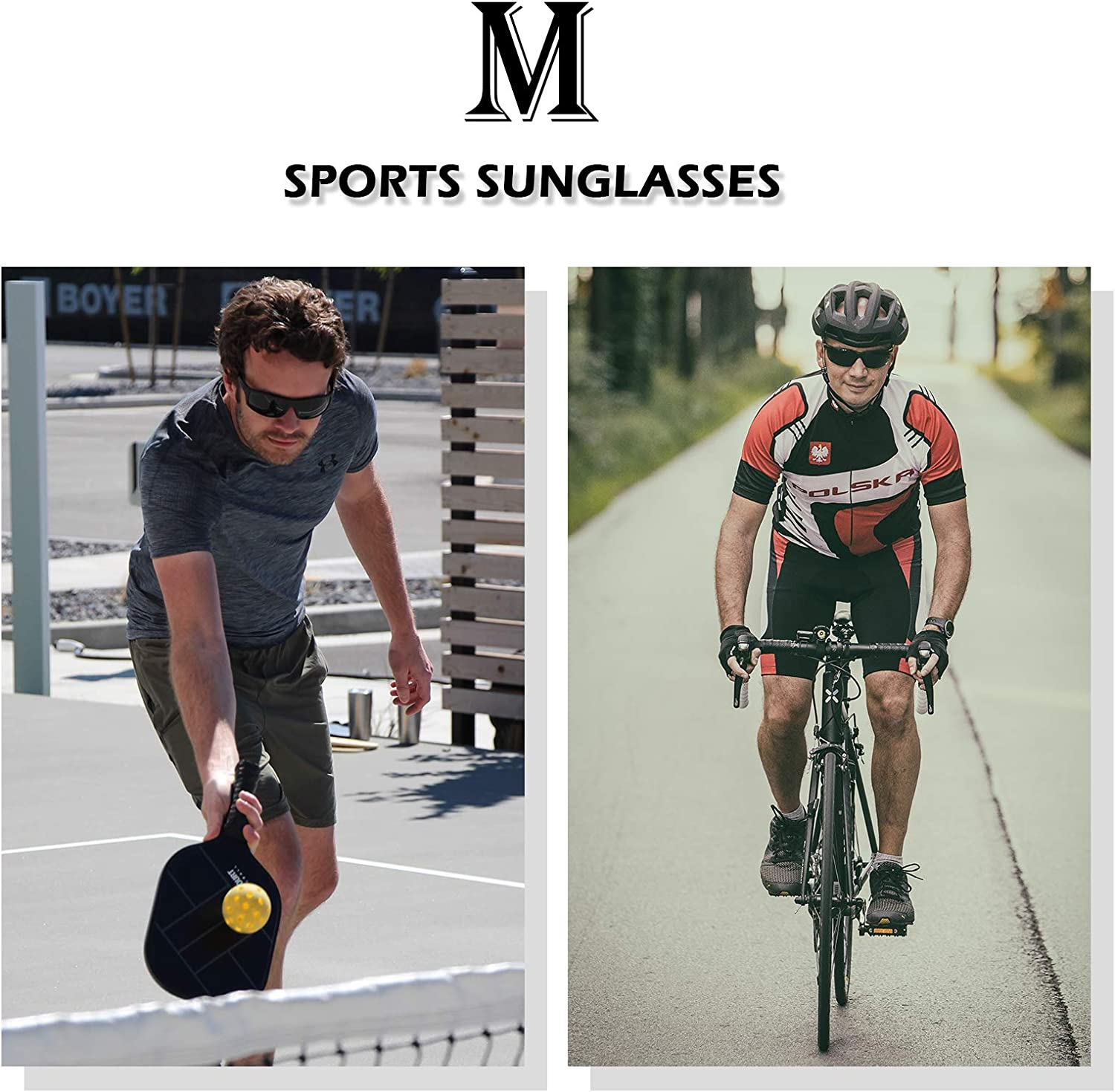 MXNX Polarized Sports Sunglasses for Men Driving Cycling Fishing 100/% UV Protection