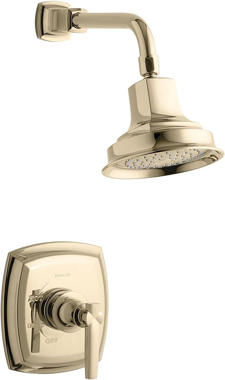Vibrant French Gold Kohler K-16280-AF Margaux Showerarm and Flange