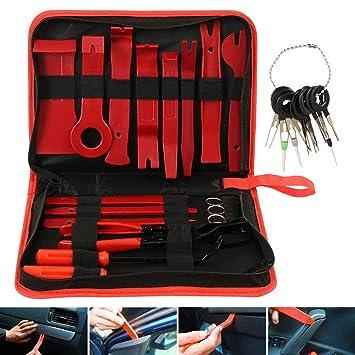 hfurehf - Kit de Herramientas para Quitar tapacubos de Coche (29 Piezas, Incluye Bolsa de Almacenamiento): Amazon.es: Coche y moto