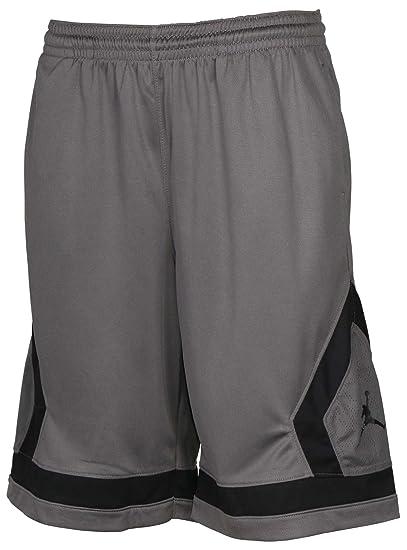 0fe28f5dc8ba9b Amazon.com  Jordan Big Boys  (8-20) Nike Jumpman Knit Shorts-Gray ...