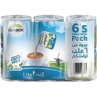 Rainbow Lite Vitamin D Convenience Pack Evaporated Liquid Milk - 6 x 170 gm
