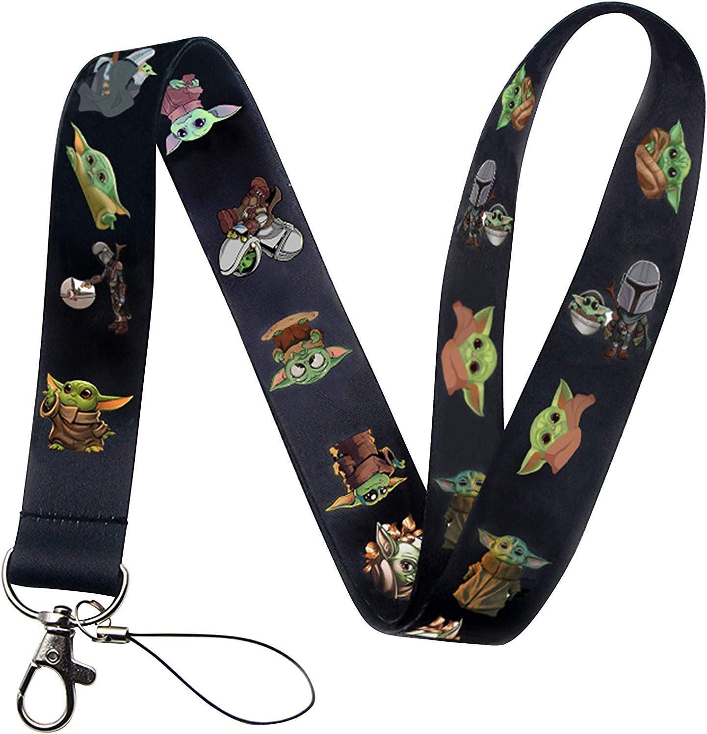 Cartoon Lanyard Cosplay Costume Adult Unisex Polyester Lanyard for Keys Phone Merchandise Accessories (Black)