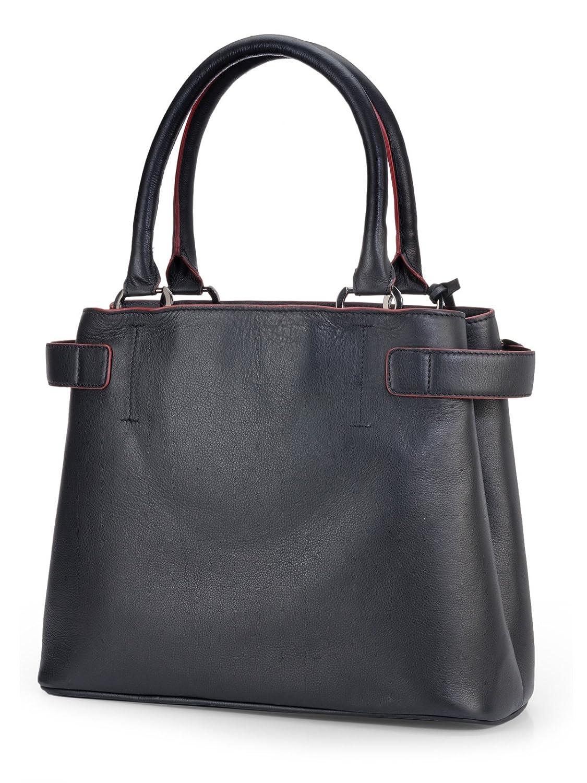 Phive Rivers Women/'s Leather Handbag Black PR1091