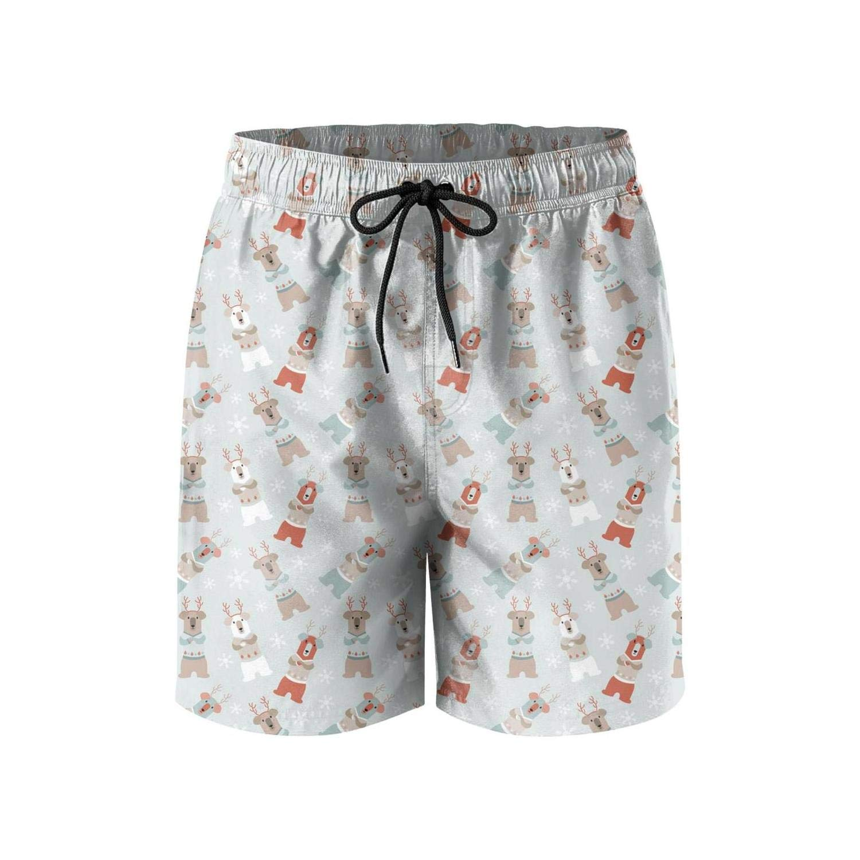 Finaif Men Vegetable-Mushroom Board Shorts Fashion Street Swimwear Beach Shorts