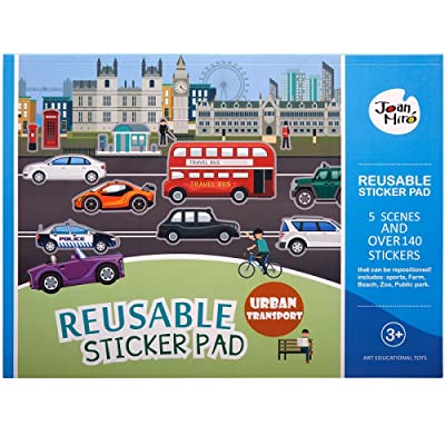 Joan Miro Reusable Sticker Book 5 Scenes and Over 120 Stickers (Urban Transport): Toys & Games