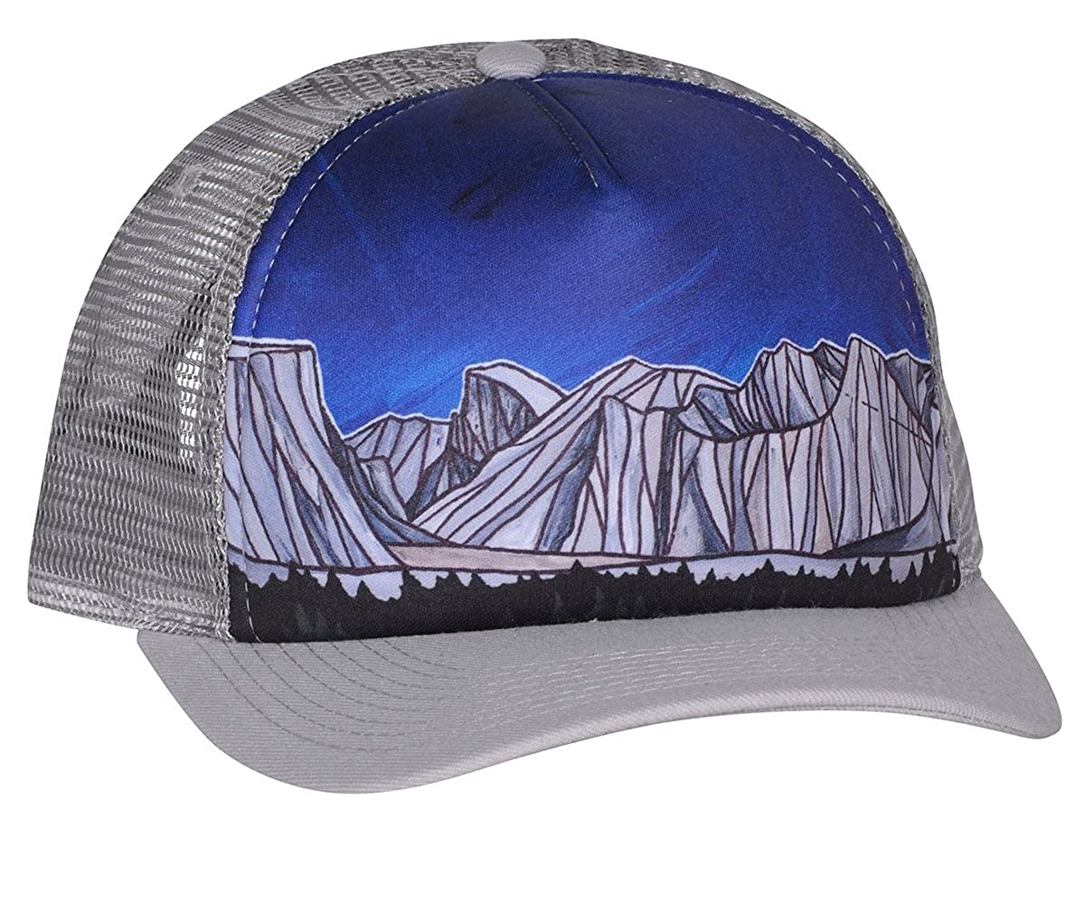 Bristlecone Designs - Yosemite Valley - Trucker Hat (Black) at Amazon Men s  Clothing store  507a63ab2f4