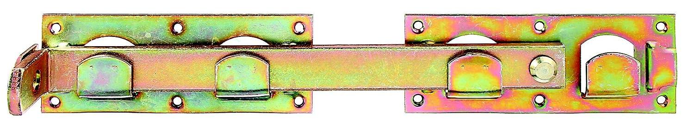 GAH-Alberts 210625 Doppeltorü berwurf, links und rechts verwendbar, galvanisch gelb verzinkt, 423 x 70 mm
