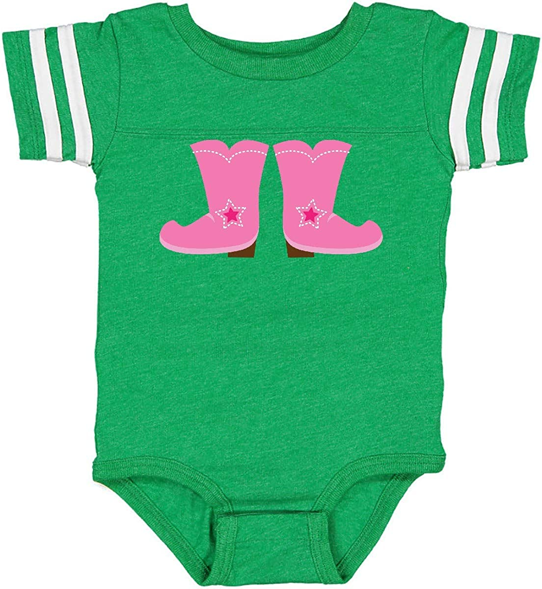 inktastic Cowgirl Pink Boots Infant Creeper