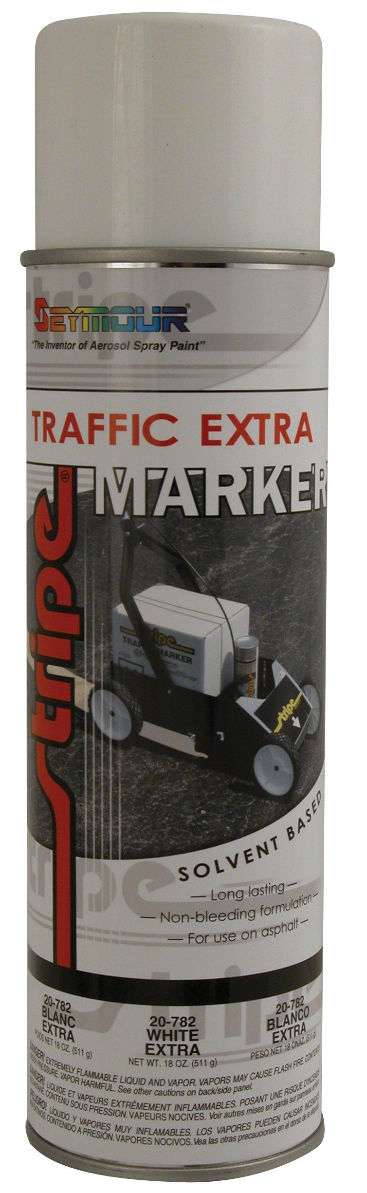 Seymour 20-782 Stripe Solvent Base Extra Traffic Marker, White
