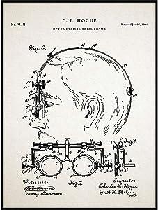 Optometrist Trial Frame Patent Print, Optical Shop Poster, Eye Clinic Decor, Vintage Optometry, Optician Optometrist Gift, QP596