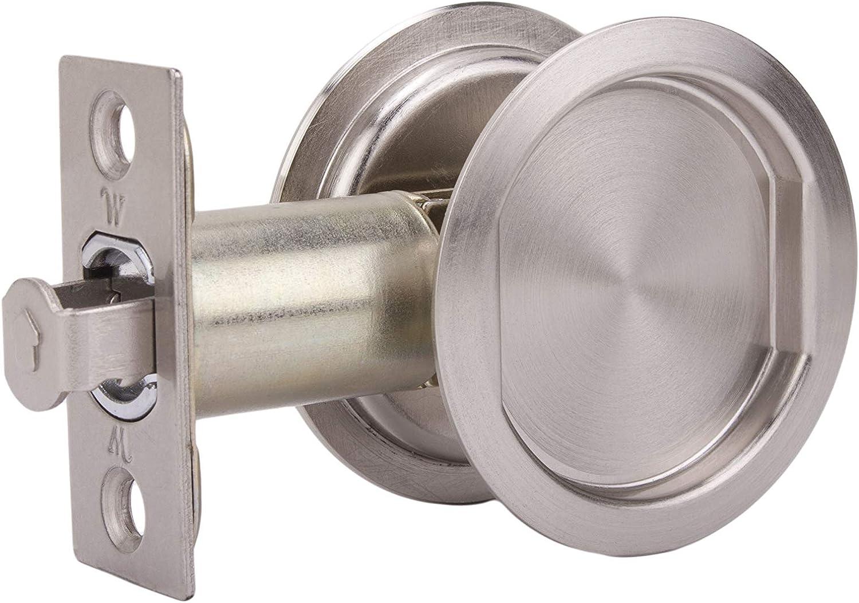 Cavity Sliding door Lock-Passage function-satin finish
