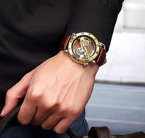 Silber Automatic Armbanduhr Mechanical Classic Skeleton Self Analog Wind Herrenuhren PZiTOkXuw
