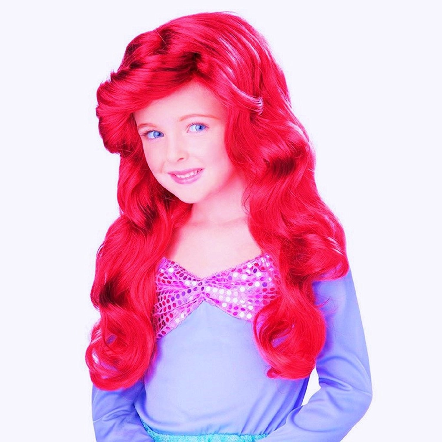 Party Hair Children's Ariel Wig, Princess Wig, Long red Wig, Mermaid Wig