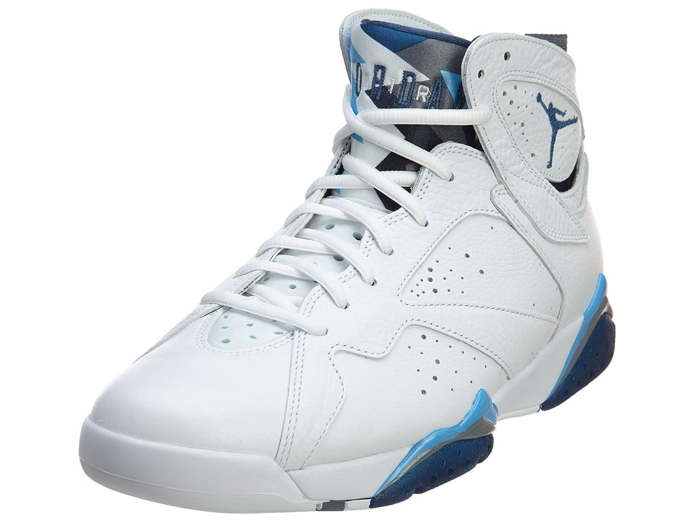 Nike Herren Air Jordan 7 Retro Turnschuhe, Schwarz, 48.5 EU  10|Wht, Frnch Bl-unvrsty Bl-blnt G