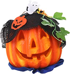 Light Up Pumpkin Lantern, Halloween Props for Haunted House Party Decor