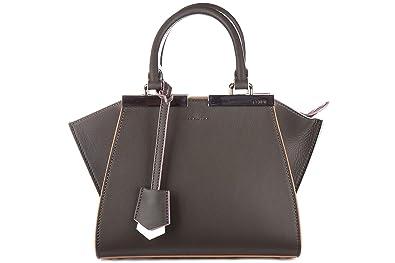 Fendi sac à main femme en cuir mini 3 jours gris  Amazon.fr ... 50ff135f7e3
