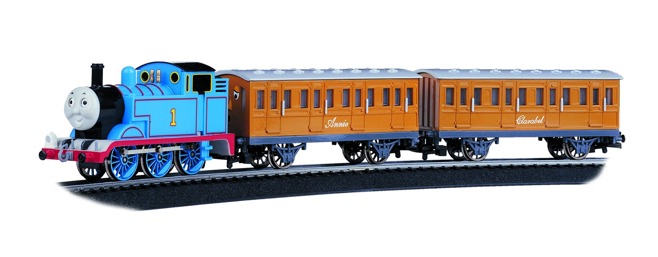 Bachmann Trains - Thomas & Friends Thomas with Annie and Clarabel Ready To Run Electric Train Set - HO Scale by Bachmann Trains