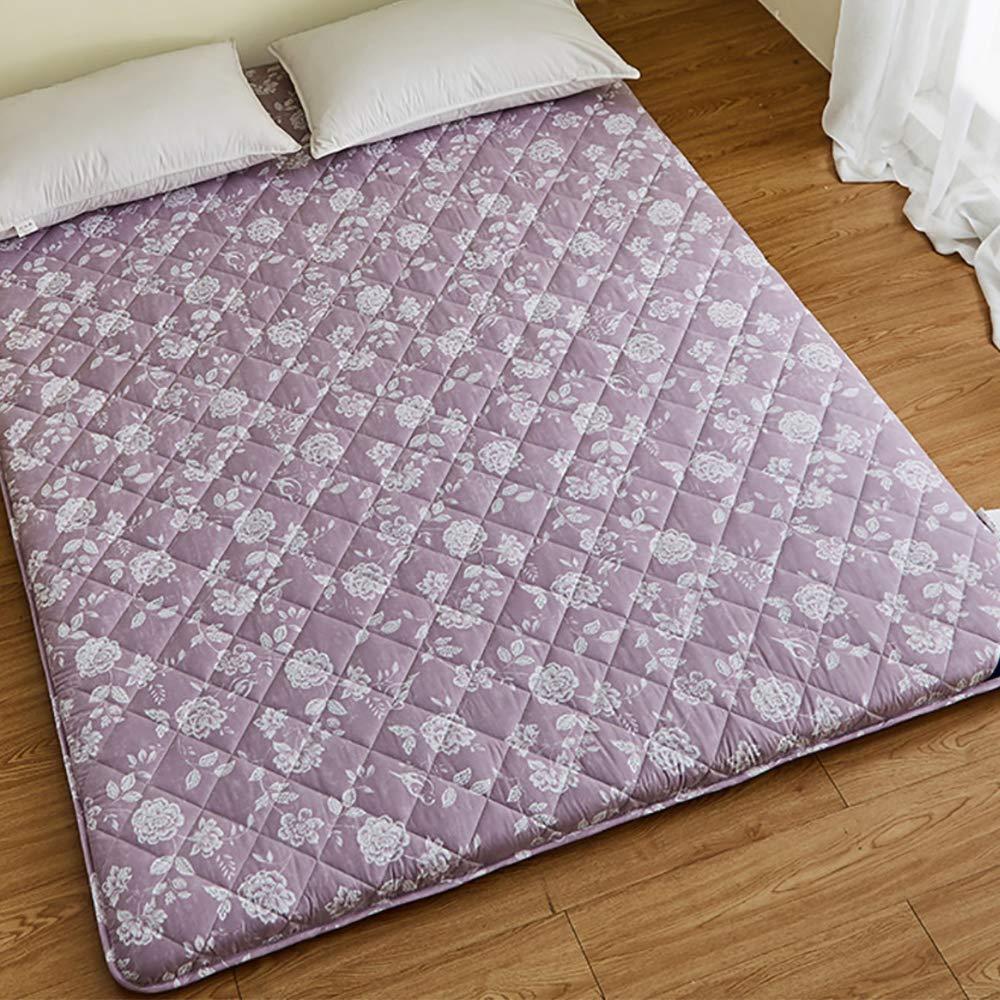 C Queen 150x200cm Fluffy Japanese Traditional futon Mattress,6cm Thick Breathable Elasticated Corner Straps Tatami Sleeping pad-B 150x190cm(59x75inch)
