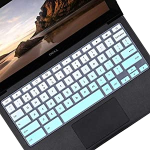 Keyboard Cover Skin for Dell Chromebook 3120 | Dell Chromebook 3100 3180 3189 3181 5190 | dell chromebook 11.6 Keyboard Cover | dell chromebook 3380 | dell chromebook13.3 Keyboard Cover -MintGreen