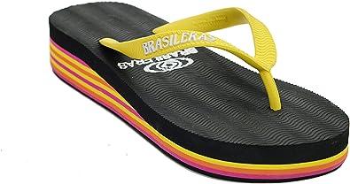 Brasileras Plataforma De Flip Flop Sandalia Rasta Amarillo 5 6 B M Us Shoes