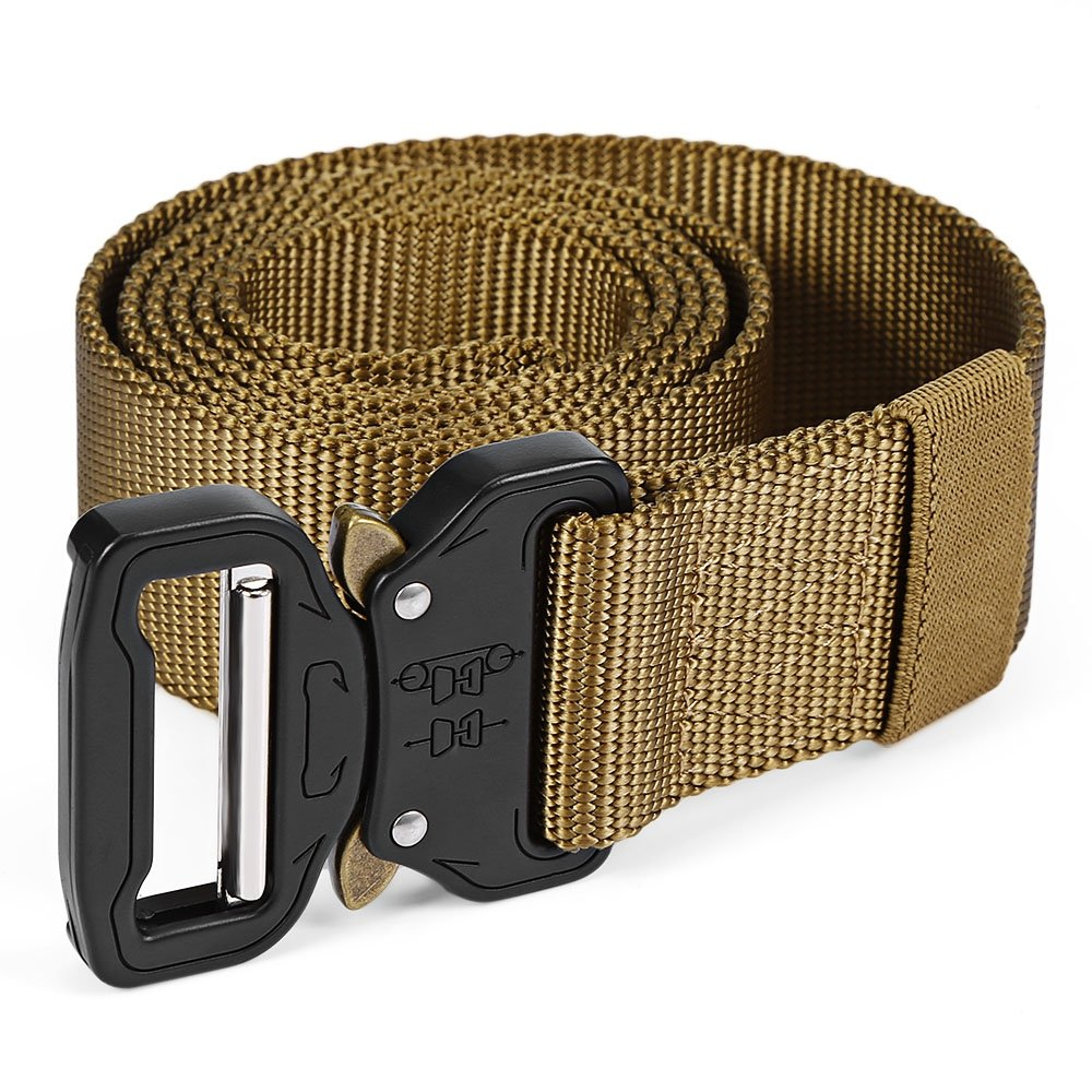 Youwendu Tactical Belt Military Webbing Rigger Web Strap with Quick Release Buckle