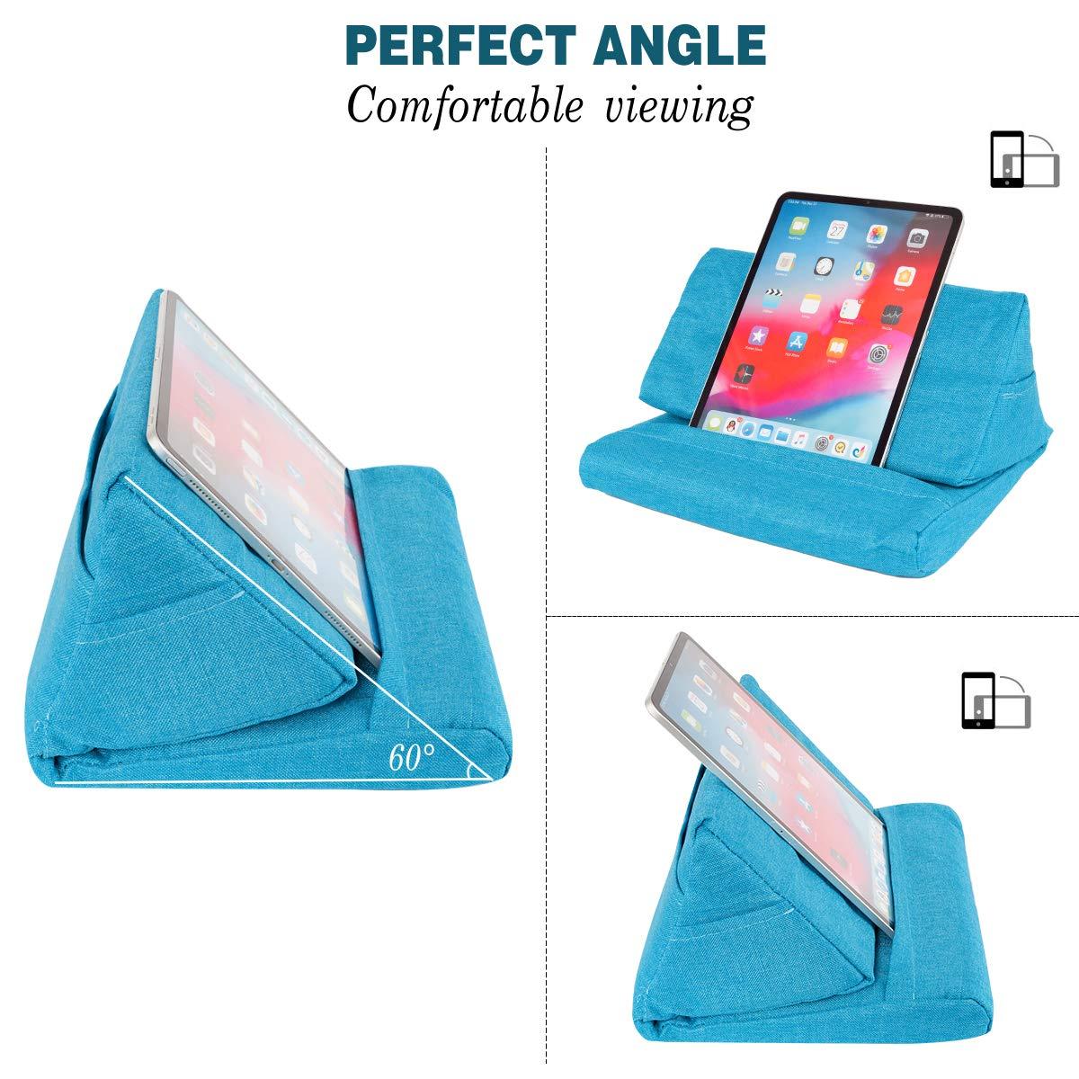 Supporto Cuscino per Divano eReader con Tasca Piccola per Tablet e-Reader Smartphone Smartphone aeroplanino riviste Locisne Cuscino Divano Supporto per Tablet Laptop