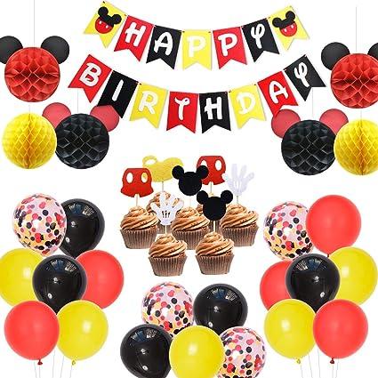 Amazon.com: Mickey Mouse suministros de fiesta Mickey bolas ...