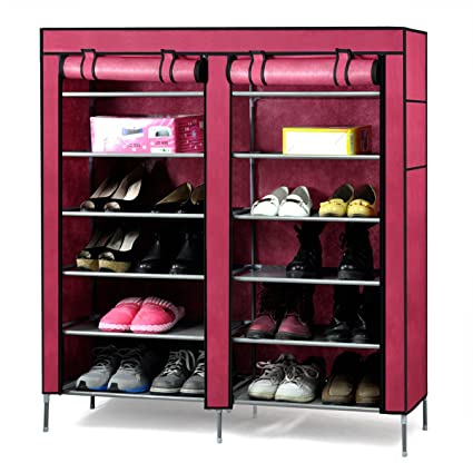 Superbe Easyfashion 6 Tier 2 Rows Doors Shoe Cabinet Rack Large Shoes Stand Storage  Organizer (