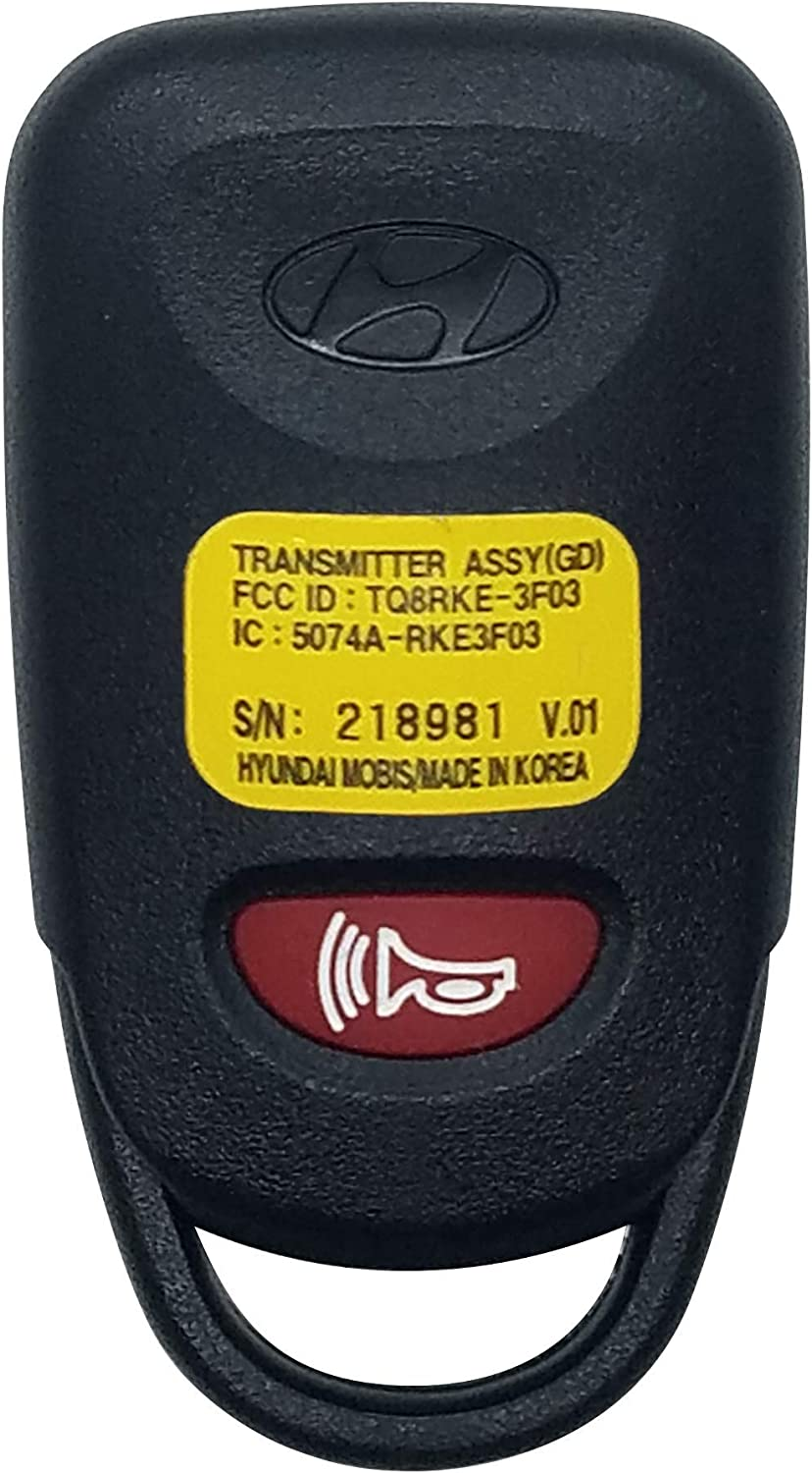 New Replacement Remote Key Keyless Entry Fob Transmitter For Hyundai TQ8RKE-3F03
