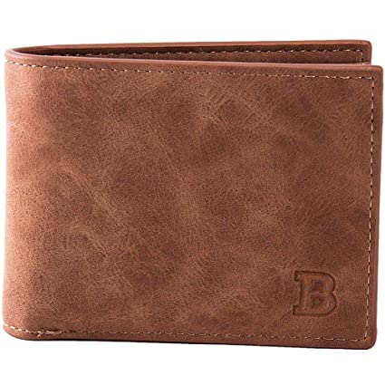 FidgetGear Billetera de Hombre Caballero de Cuero Para Efectivo Tarjetas Licencia Monedero Cafe at Amazon Mens Clothing store: