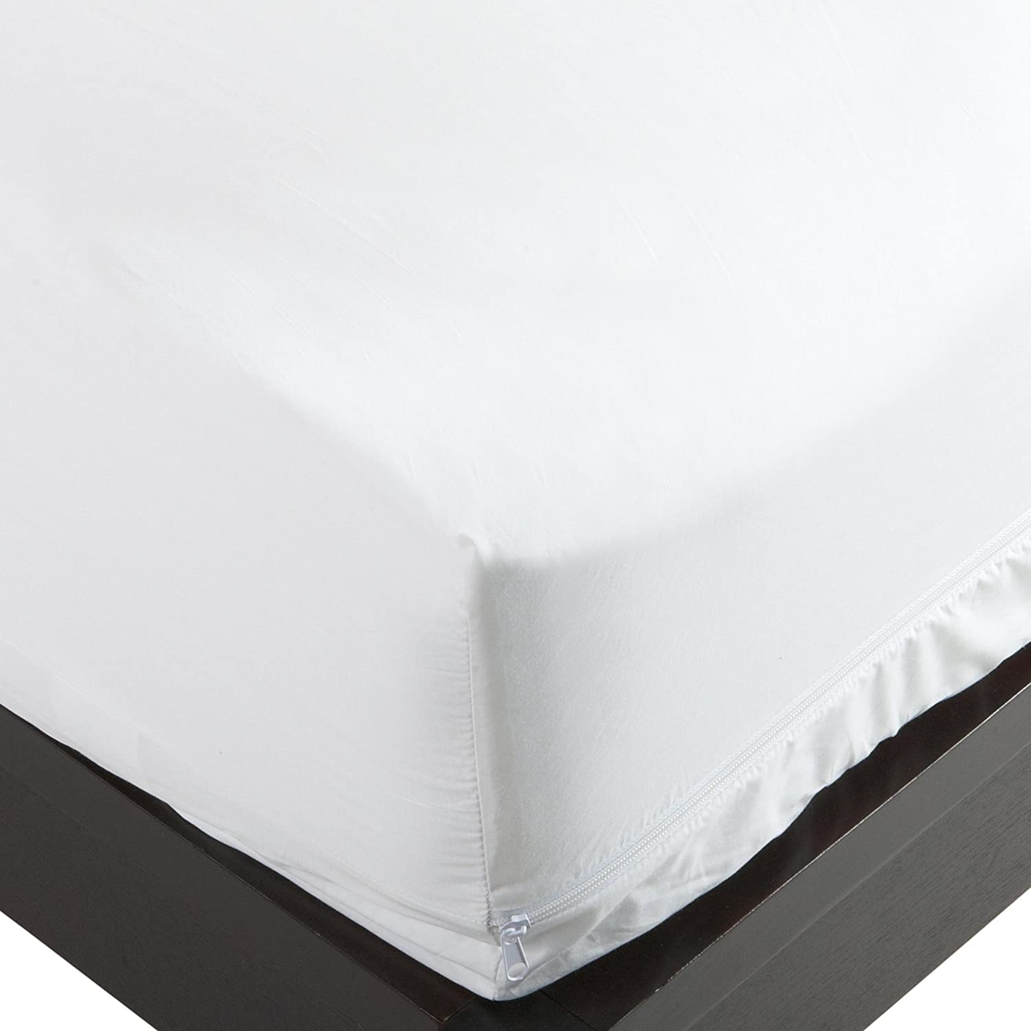 Bed Guard Stretch Knit Polyester Bed Bug and Dust Mite Control Full 12-Inch Deep Pocket Mattress Protector, White 1115a
