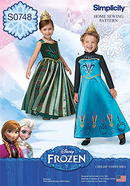 SEWING PATTERN MAKE ADULT FROZEN COSTUME ANNA CORONATION DRESS~ELSA ICE QUEEN