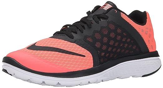 Women's Nike FS Lite Run 3 Running Shoe Lava Glow/White/Black Size 11.5