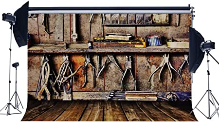 Buenn Reparatur Werkstatt Hintergrund 7x5ft Vinyl Kamera