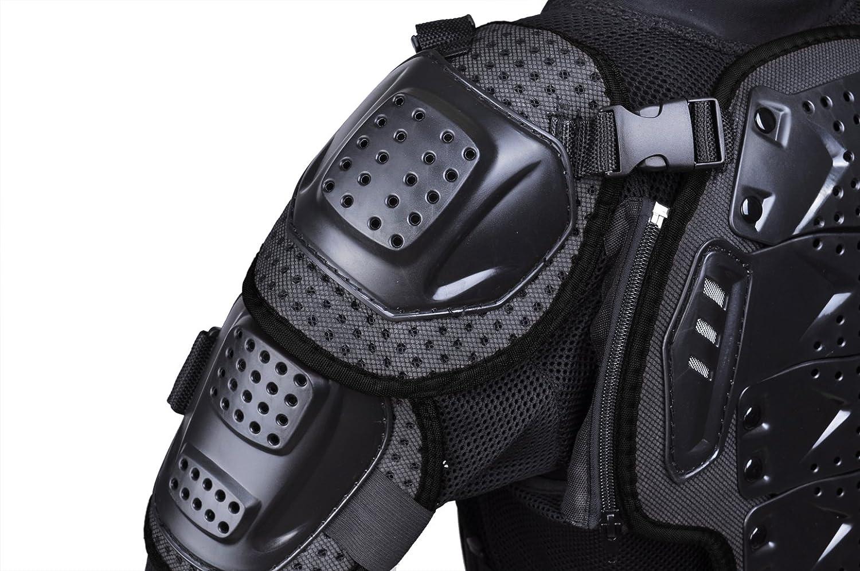 CHCYCLE Motorcycle Full Body Armor Motocross ATV Motorbike Jacket Protector XL, Black