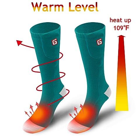 Svpro Batería térmica recargable Calcetines térmicos eléctricos. Batería para pies con frío crónico. Esquí