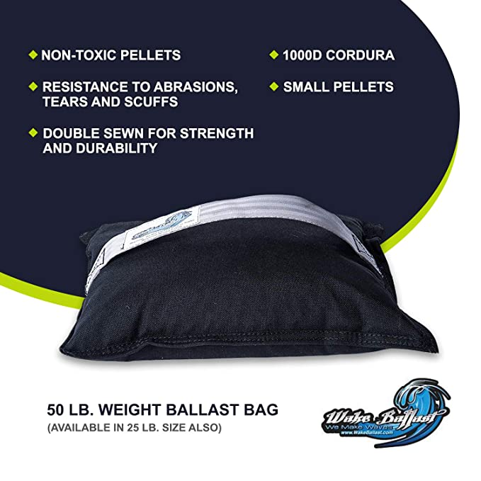 Amazon.com: WAKE BALLAST Steel Shot Bag (50 Lb.) for Wakesurf Boats, Makes The Best Waves for Wake Surfing, Wakeboard, Uses Non-Toxic Pellets, ...