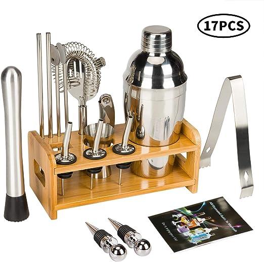 Cocktail Stainless Bartender Bartending Mixer Shaker Kit