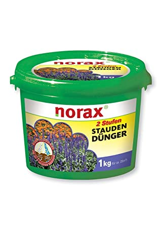 norax 2 niveles para plantas vivaces de Abono + Magnesio 1 kg para 25 m²