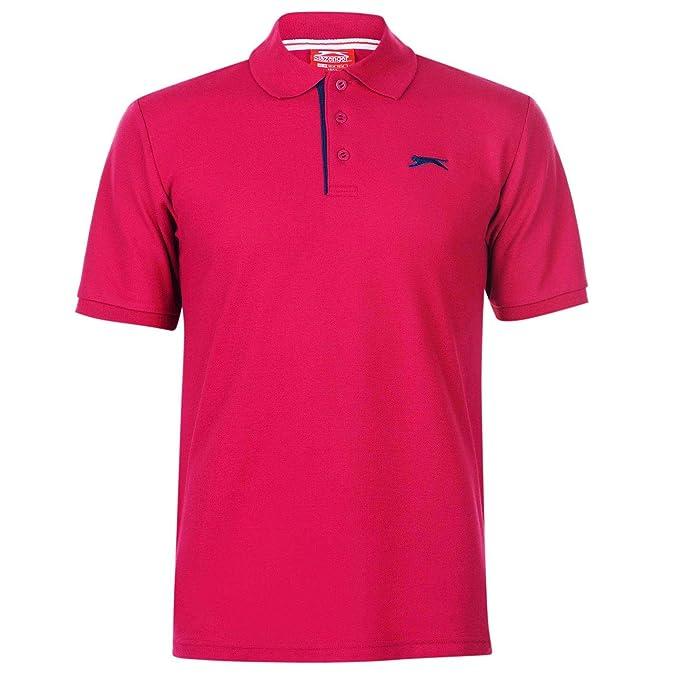 Slazenger Hombre Plain Camiseta Polo Rosa S: Amazon.es: Ropa y ...