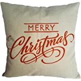 Sankuwen Home Decoration Pillowcase Christmas Pillow Cushion Cover (Merry Christmas)