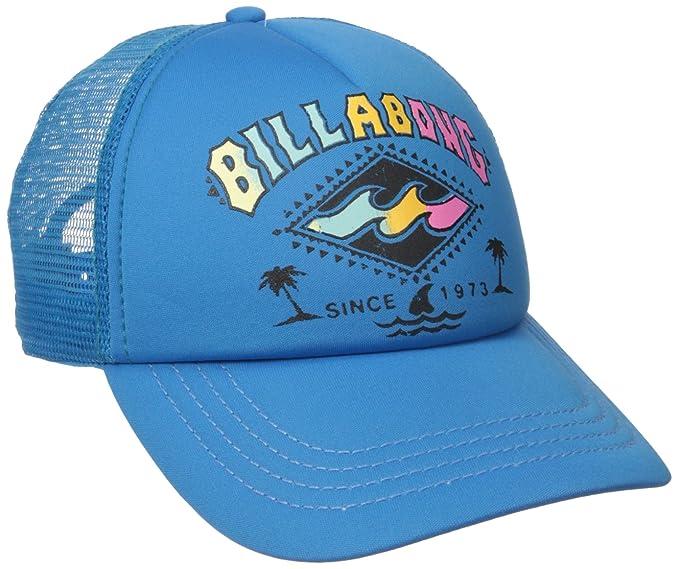 b72b533c402a39 Billabong Junior's Retro Logo Trucker Hat, Fiji Blue, One Size at ...