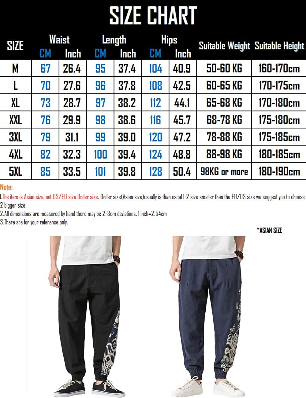 Black Zhhlinyuan Mens Womens Harem Pants Baggy Baggy Baggy
