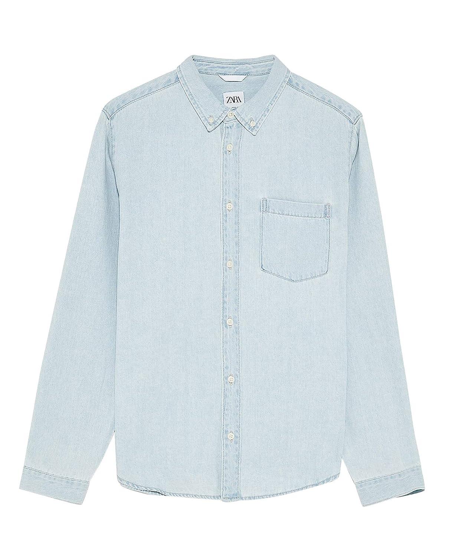 Zara 6987/300/406 - Camiseta de Mezclilla básica para Hombre ...