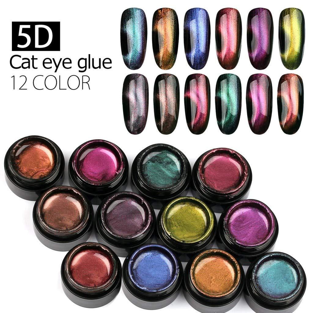ANDLUV Nail Powder, 12 Pcs Galaxy Shiny Nail Dipping Gel,Nail Art Extension 5D Dipping Nail Gel UV LED Lamp Cured (12PCS) by ANDLUV