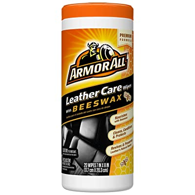 Armor All Leather Care with Beeswax Wipes (20 ct): Automotive